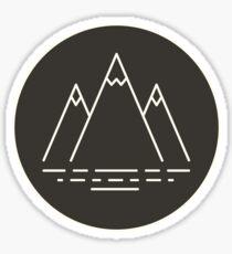 Three Peaks Sticker
