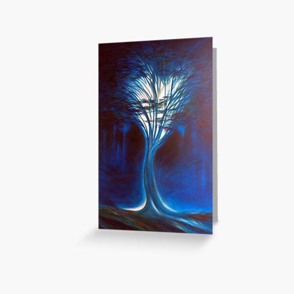 Mystical Tree, My Beloved Blue Greeting Card