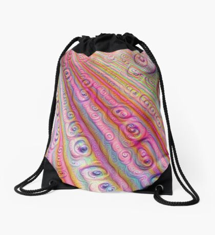 Seashells #DeepDream Drawstring Bag