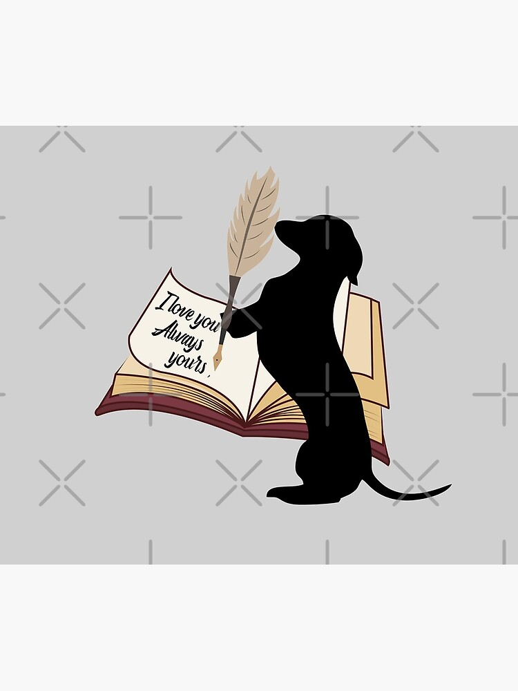 Dachshund cute gift. Doggo is writing to his mom and dad I love you always by CWartDesign