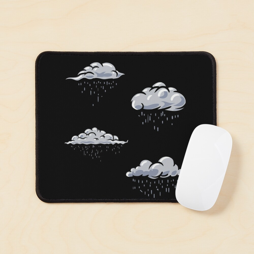 Rainy clouds pack. Clouds pattern lover, gift idea Mouse Pad