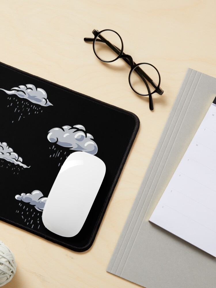 Alternate view of Rainy clouds pack. Clouds pattern lover, gift idea Mouse Pad