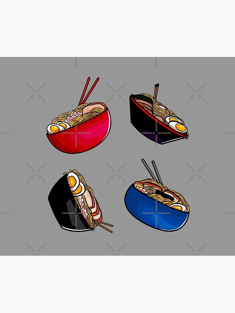 Ramen noodle soup pack. Ramen noodles pattern lover, gift idea by CWartDesign
