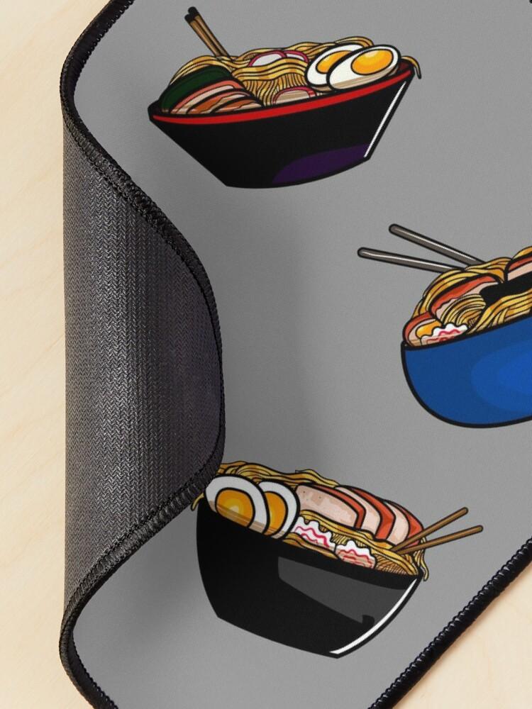 Alternate view of Ramen noodle soup pack. Ramen noodles pattern lover, gift idea Mouse Pad