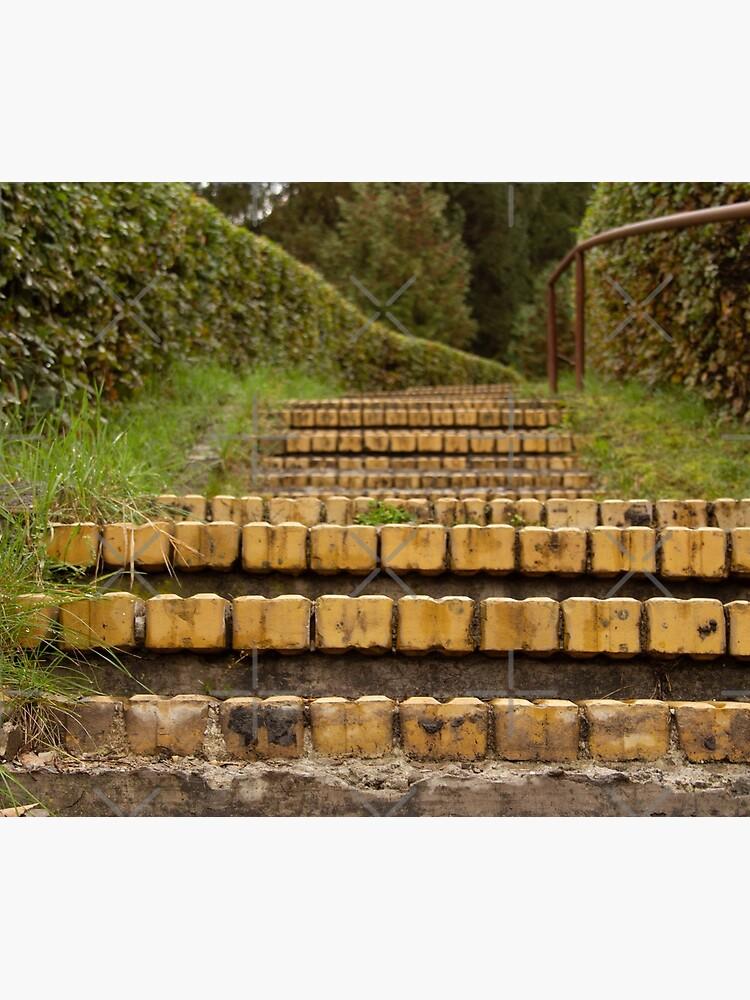 Yellow brick stairs by CWartDesign