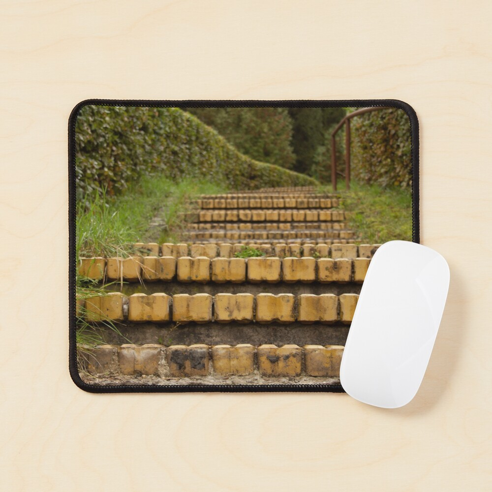 Yellow brick stairs Mouse Pad