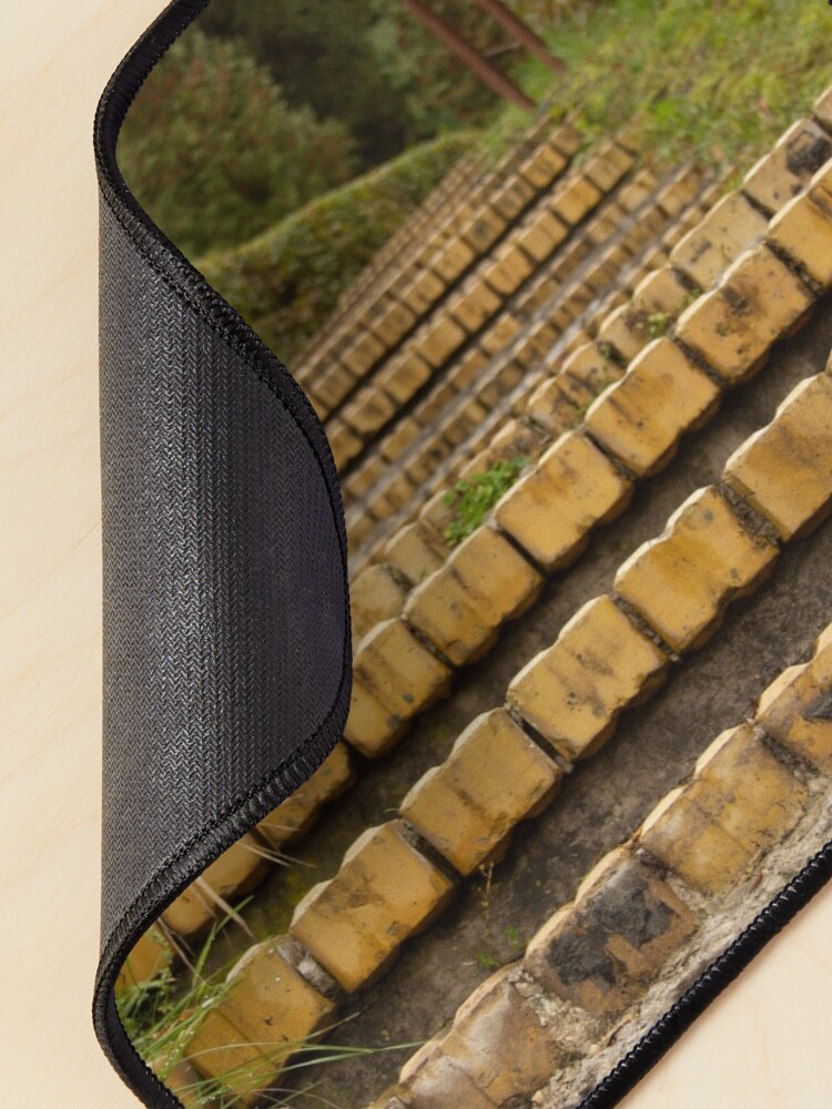 Alternate view of Yellow brick stairs Mouse Pad