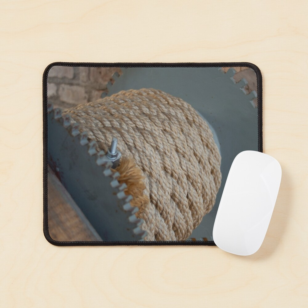 Nautical mooring rope texture Mouse Pad