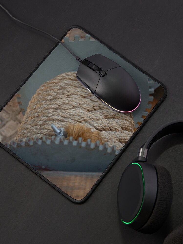 Alternate view of Nautical mooring rope texture Mouse Pad