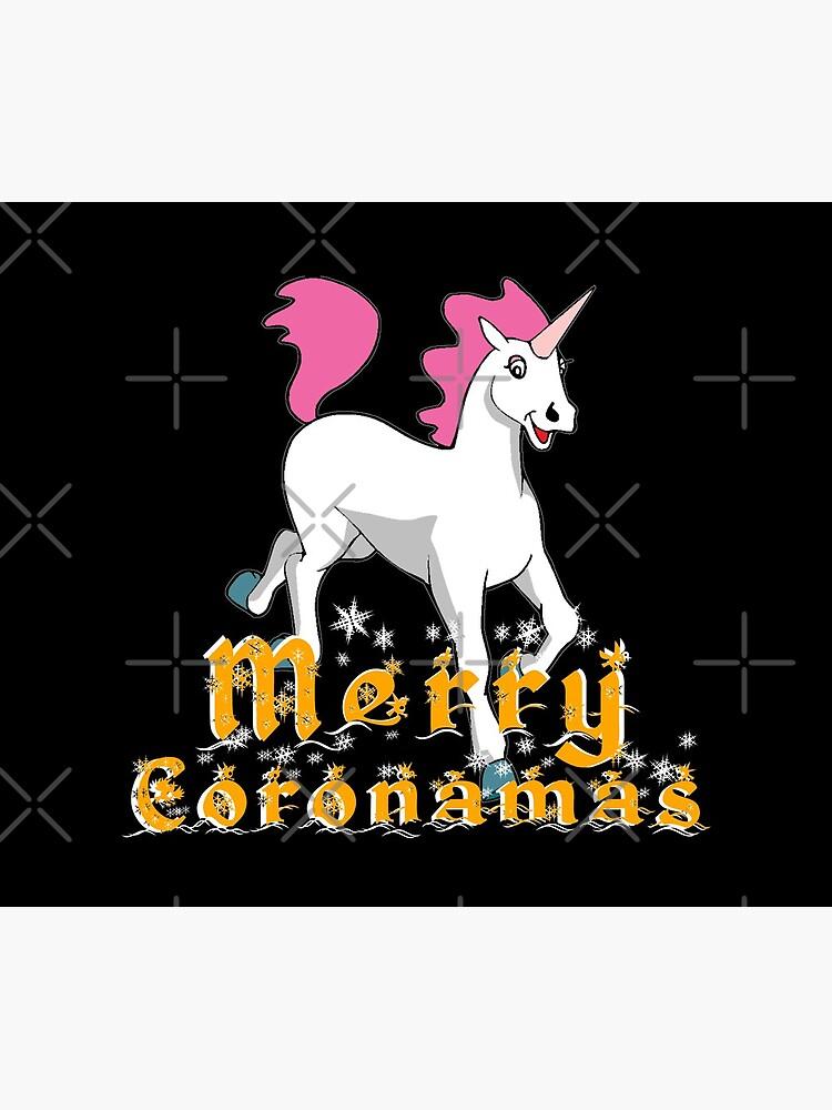 Merry Coronamas cute unicorn by CWartDesign