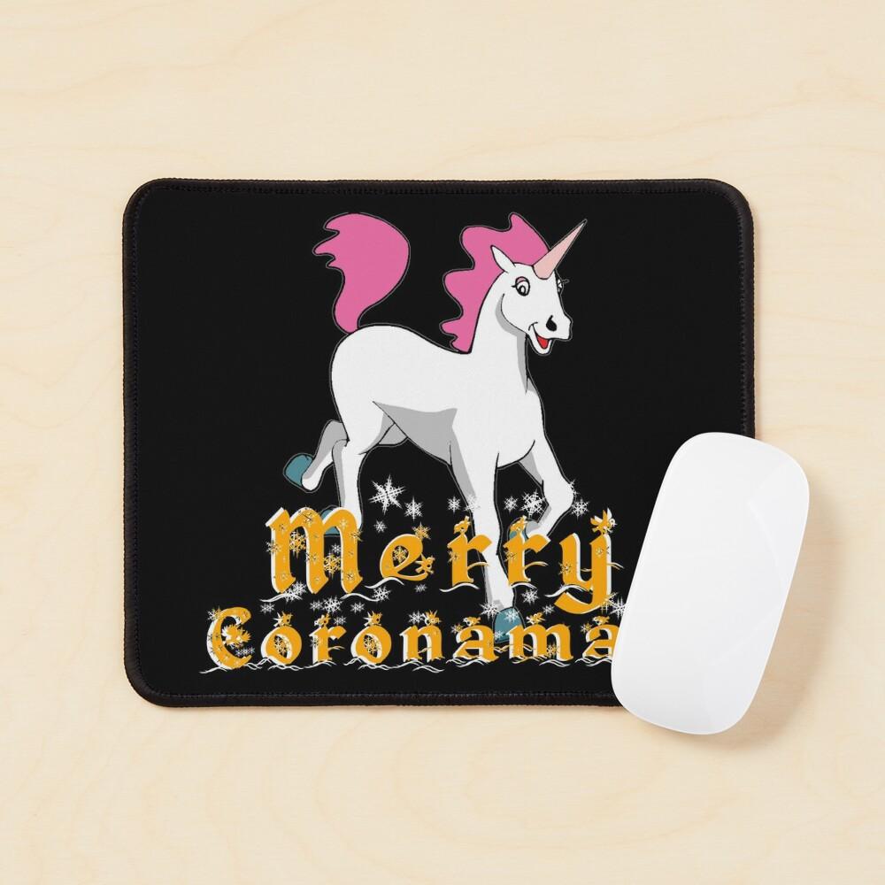 Merry Coronamas cute unicorn Mouse Pad