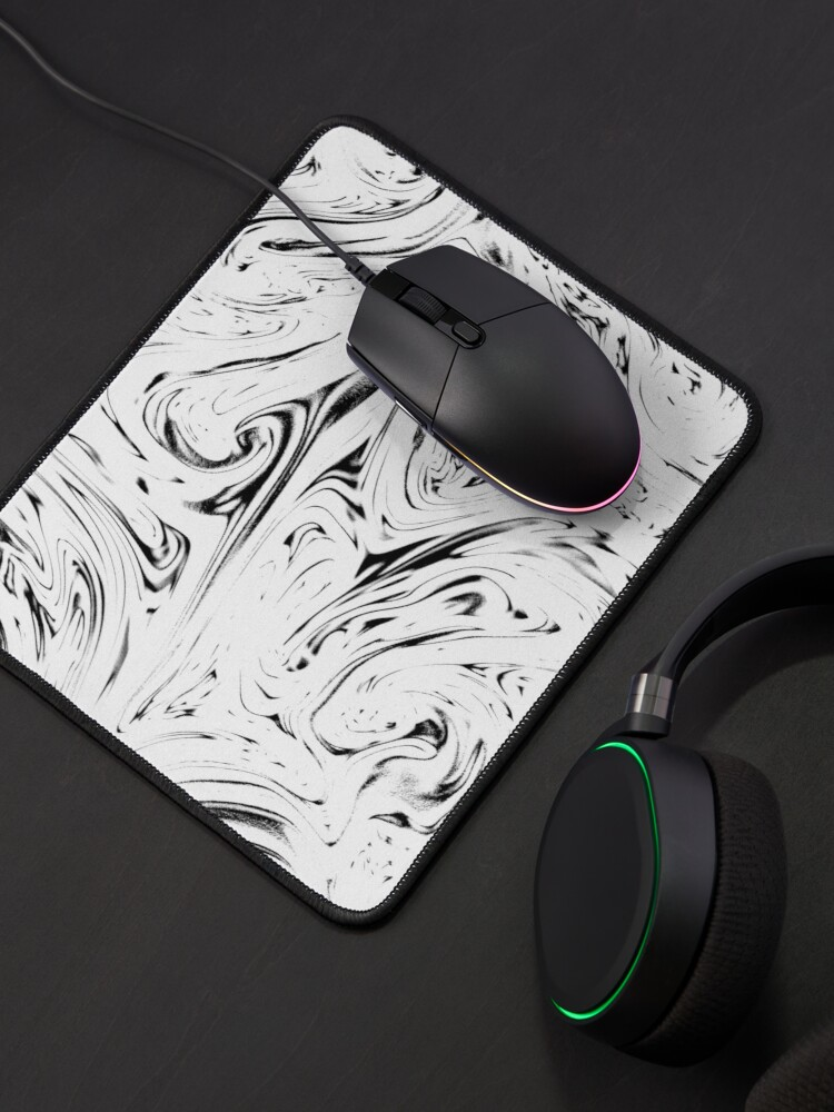 Alternate view of Multicolored unique everlasting pattern. Inspirational pouring art Mouse Pad