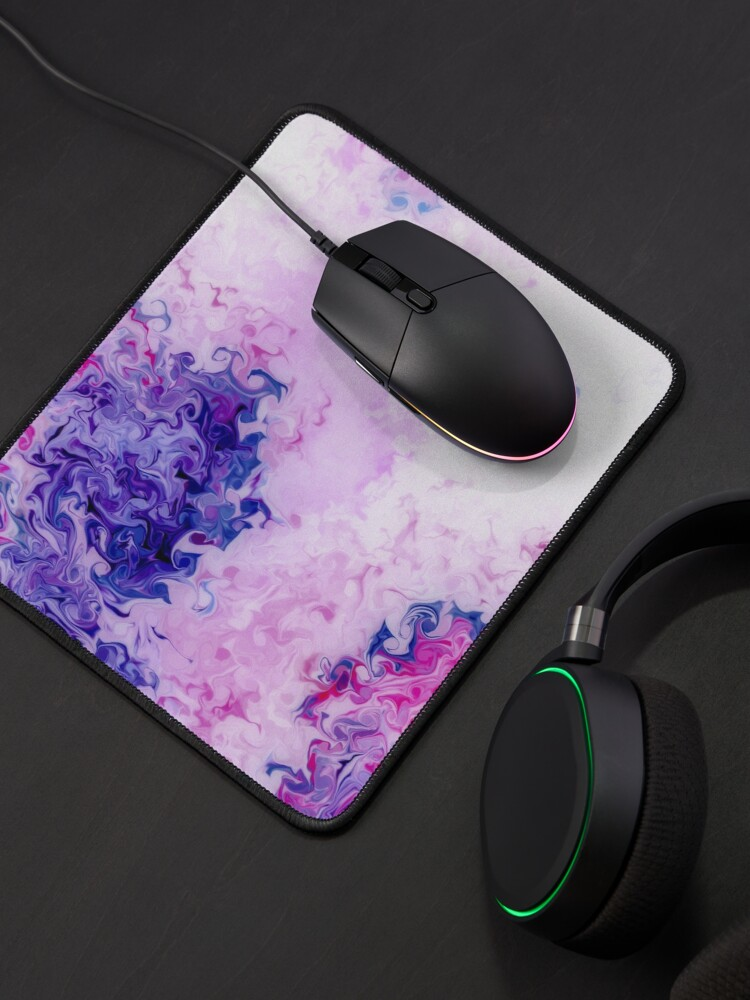 Alternate view of Multicolored unique everlasting pattern, decorative,  aesthetic design, acrylics Mouse Pad