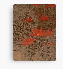 Wild Meadow in Brown Canvas Print