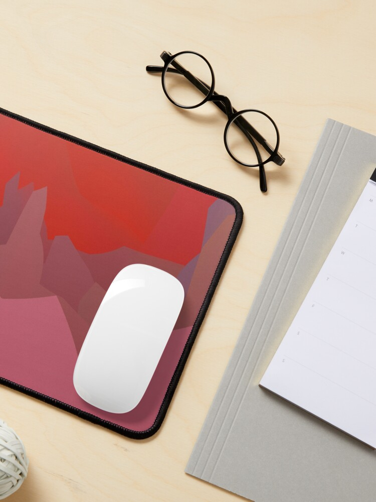 Alternate view of Abstract  patterns, decorative,  random colorful geometric design Mouse Pad