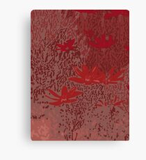 Wild Meadow in Red Canvas Print