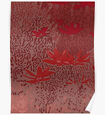 Wild Meadow in Red Poster