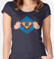 Superdesigner! — Photoshop version Women's Fitted Scoop T-Shirt