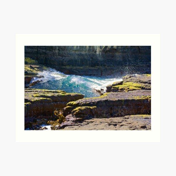 TASMAN PENINSULA ~ Tesselation and Water by tasmanianartist Art Print