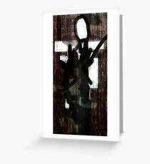 Abstract Slender Man Greeting Card