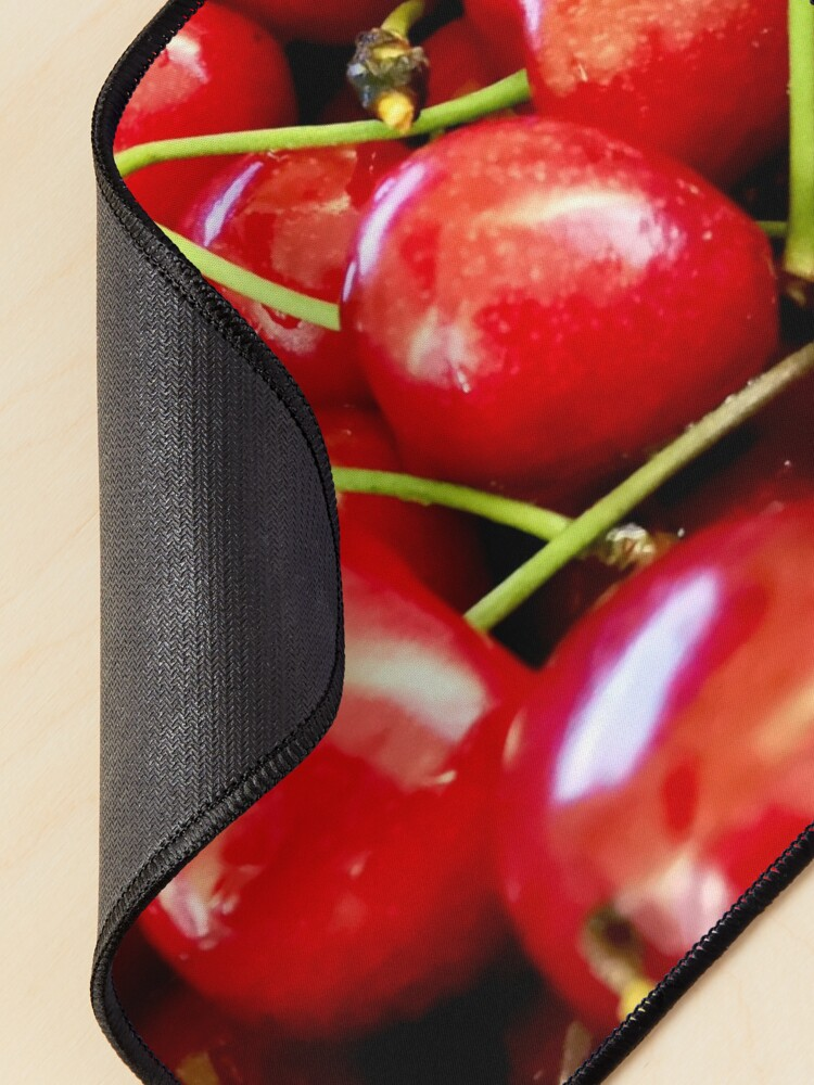 Alternate view of Fresh red cherries with dewdrops on them. Healthy lifestyle Mouse Pad