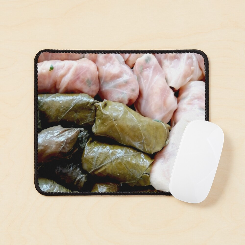 Romanian sarmale with vines and cabbage, traditional food, spring rolls Mouse Pad