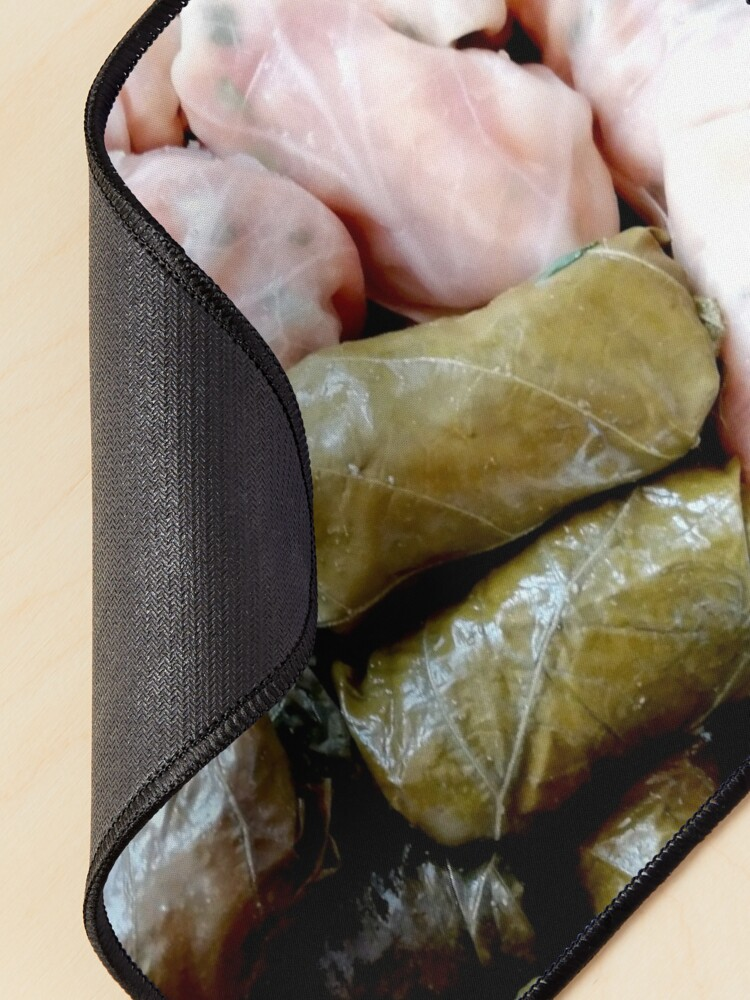 Alternate view of Romanian sarmale with vines and cabbage, traditional food, spring rolls Mouse Pad