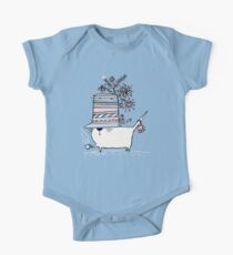 Cup of Tea Cat One Piece - Short Sleeve