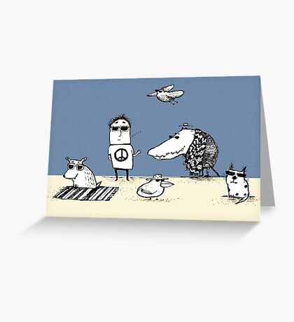 Cool Creatures Greeting Card