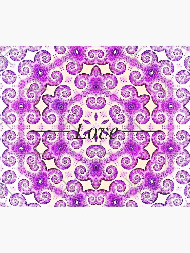 Lavender Love mandala design by CWartDesign