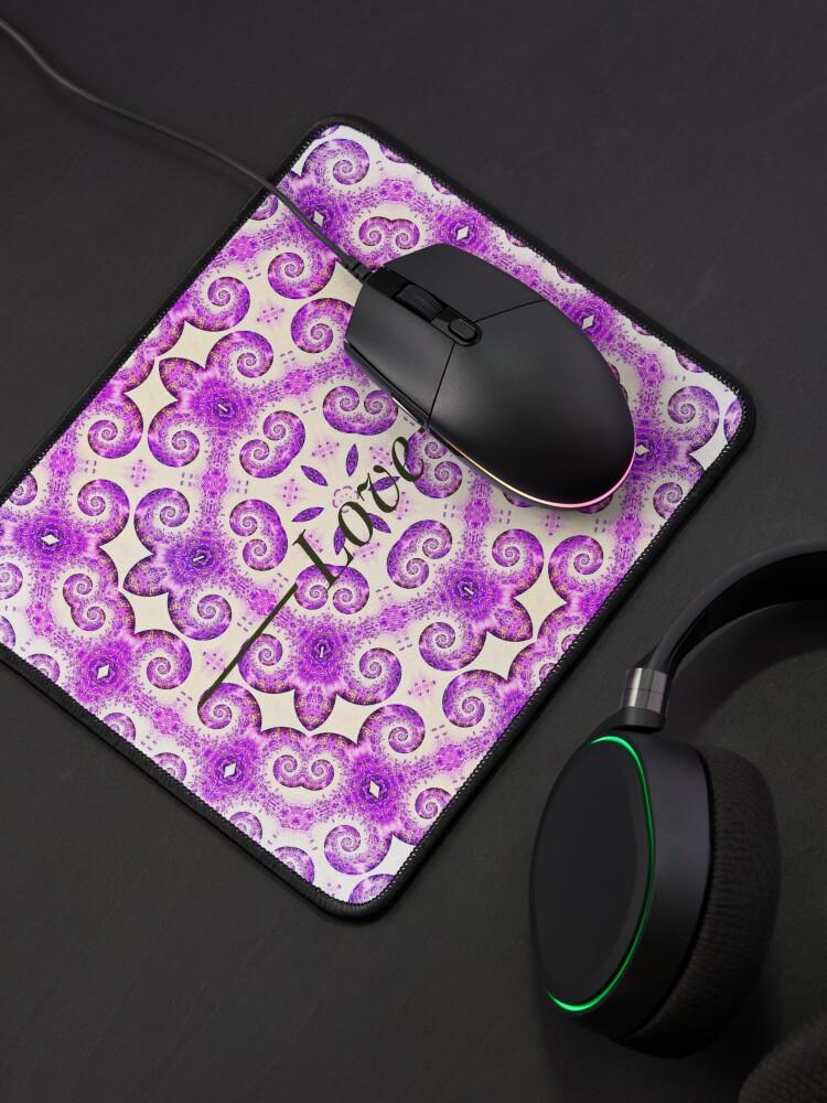 Alternate view of Lavender Love mandala design Mouse Pad