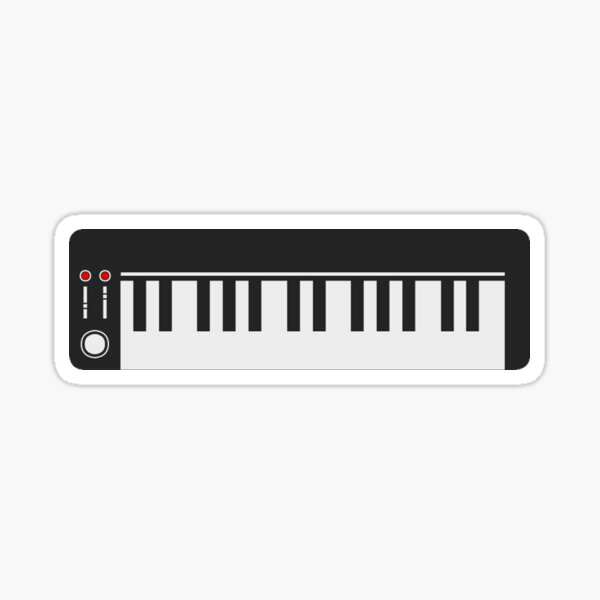 Music Keyboard Sticker