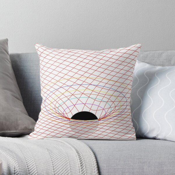 Induced Spacetime Curvature, General Relativity Throw Pillow