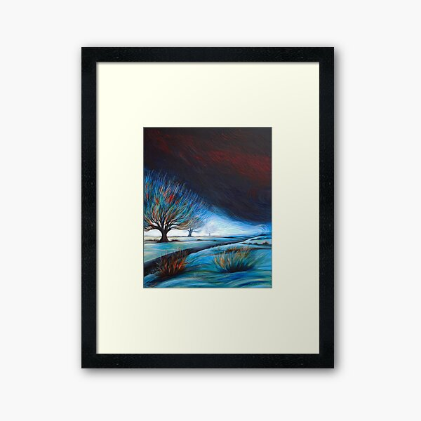 The Bright Road Home Framed Art Print