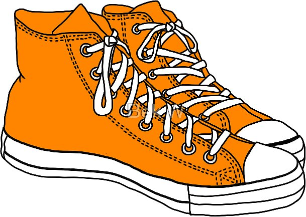 converse shoes clipart. orange converse by sam w shoes clipart