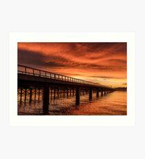 Dawn Bridge Art Print