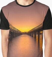 Sunrise Between Bridges Graphic T-Shirt
