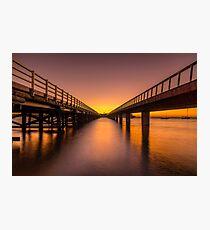 Sunrise Between Bridges Photographic Print