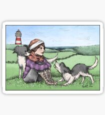 Collies by the Sea Sticker