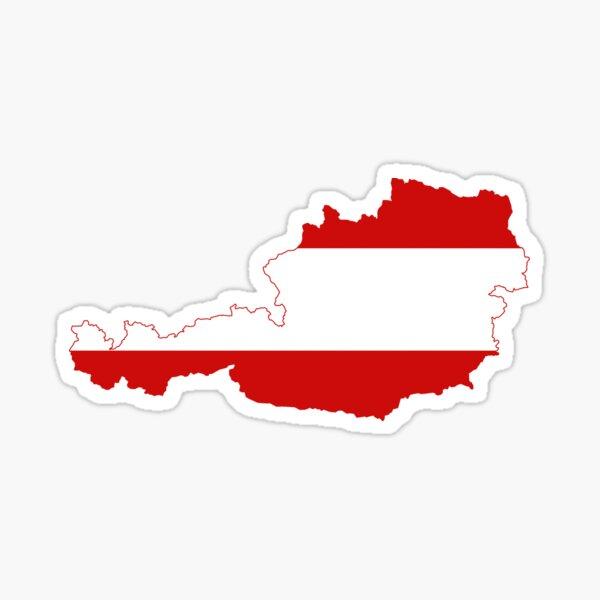 Austria Flag Map Sticker