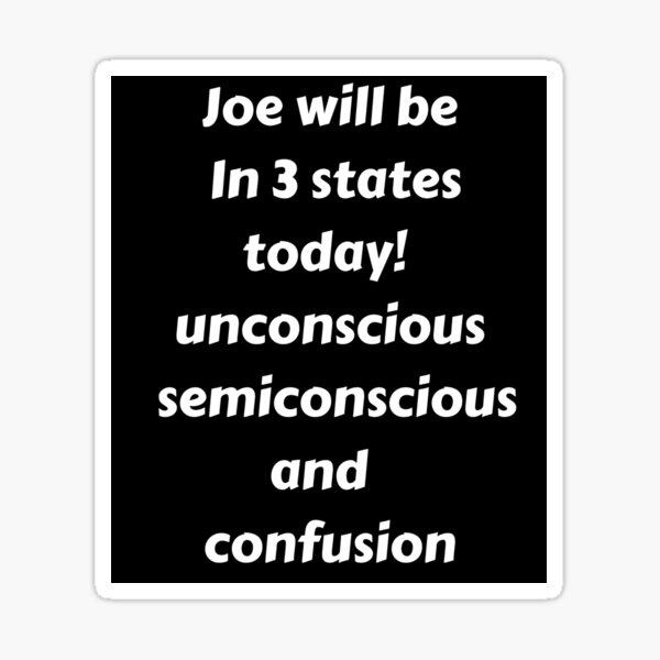 Trump,Joe Biden Will Be In 3 States Today Sticker