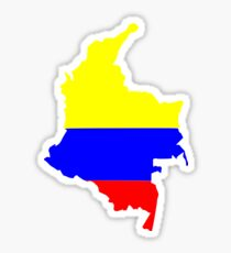 Colombia Flag Map Sticker