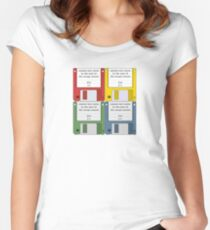 Leisure Suit Larry on 4 floppy discs Women's Fitted Scoop T-Shirt
