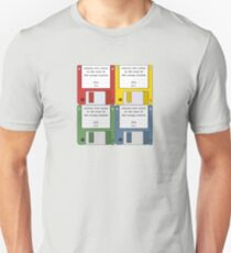 Leisure Suit Larry on 4 floppy discs Unisex T-Shirt
