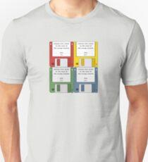 Leisure Suit Larry on 4 floppy discs T-Shirt