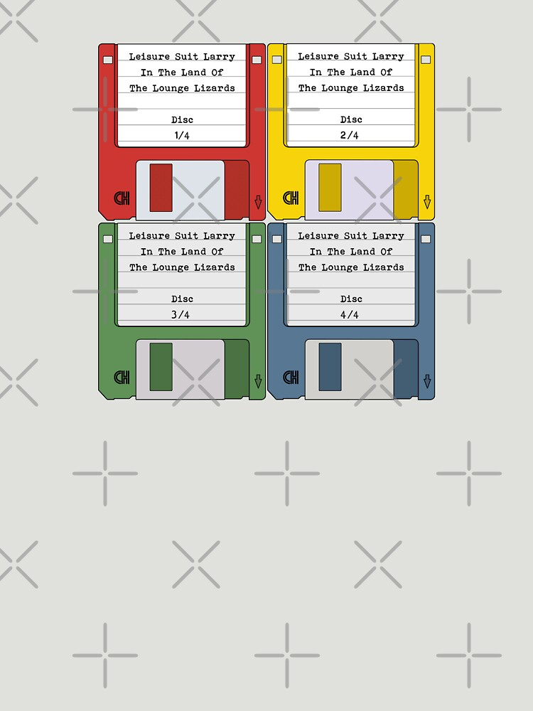 Leisure Suit Larry on 4 floppy discs by thedrumstick