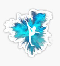 Turner Silhouette - blaue Explosion Sticker