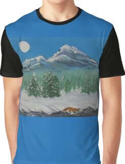 Fox, Under the Moon Graphic T-Shirt