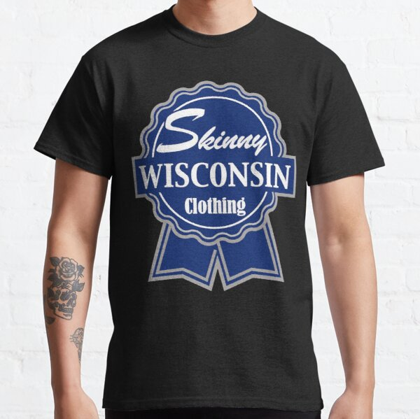 Wisconsin Skinny Blue Badge of Honor Classic T-Shirt