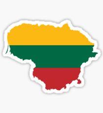 Lithuania Flag Map Sticker